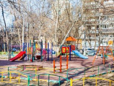 Children's playground in city