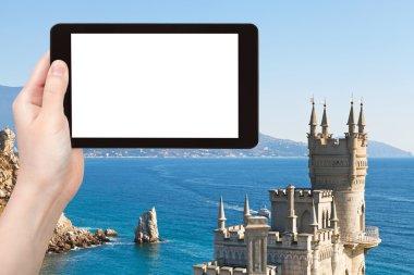 Tourist photographs of Swallow Nest castle Crimea