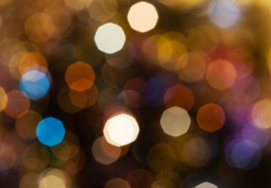 dark brown blurred shimmering Christmas lights
