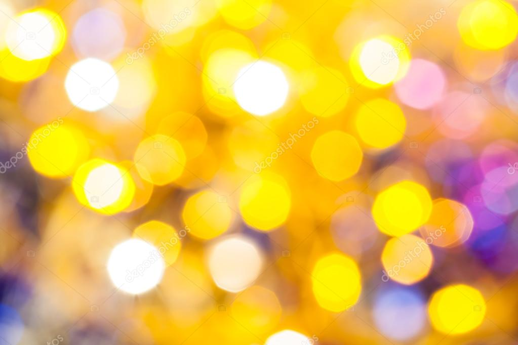 yellow violet blurred shimmering Christmas lights