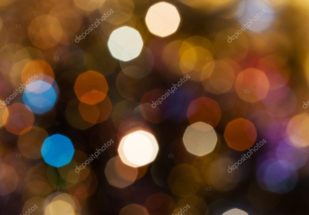 dark brown blurred shimmering Christmas lights