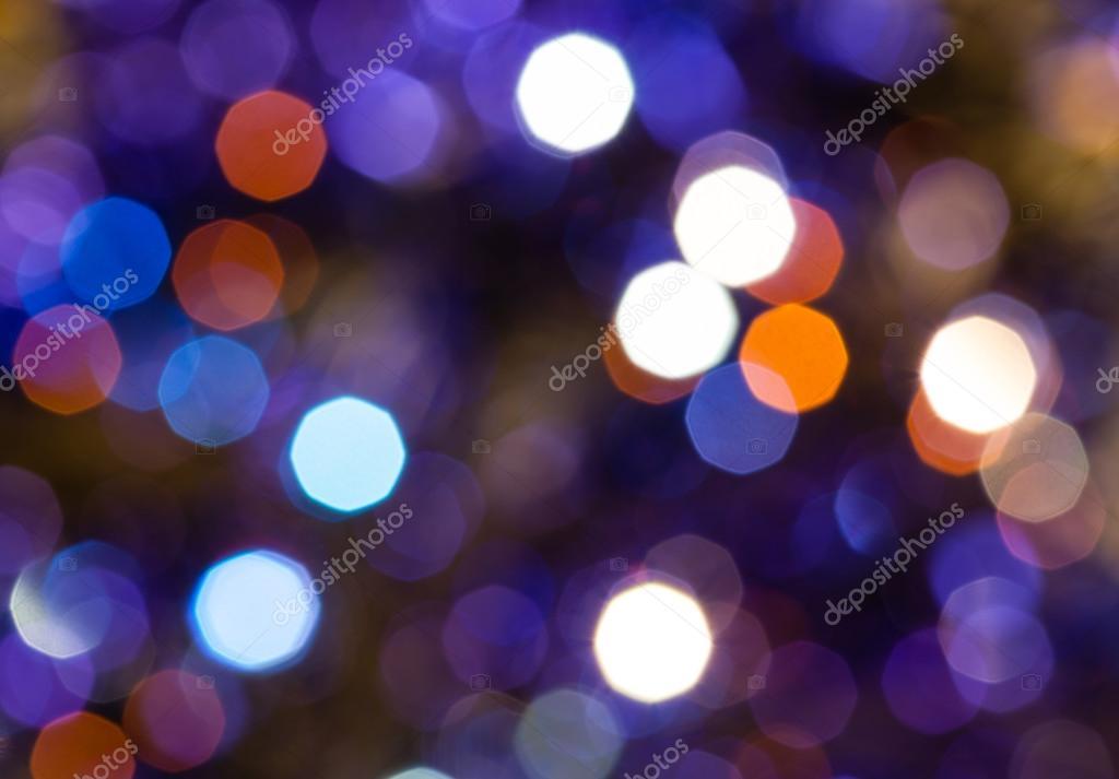 dark blue and violet flickering Christmas lights