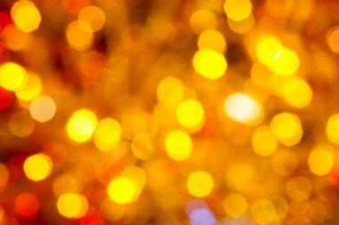 brown yellow and red flickering Christmas lights