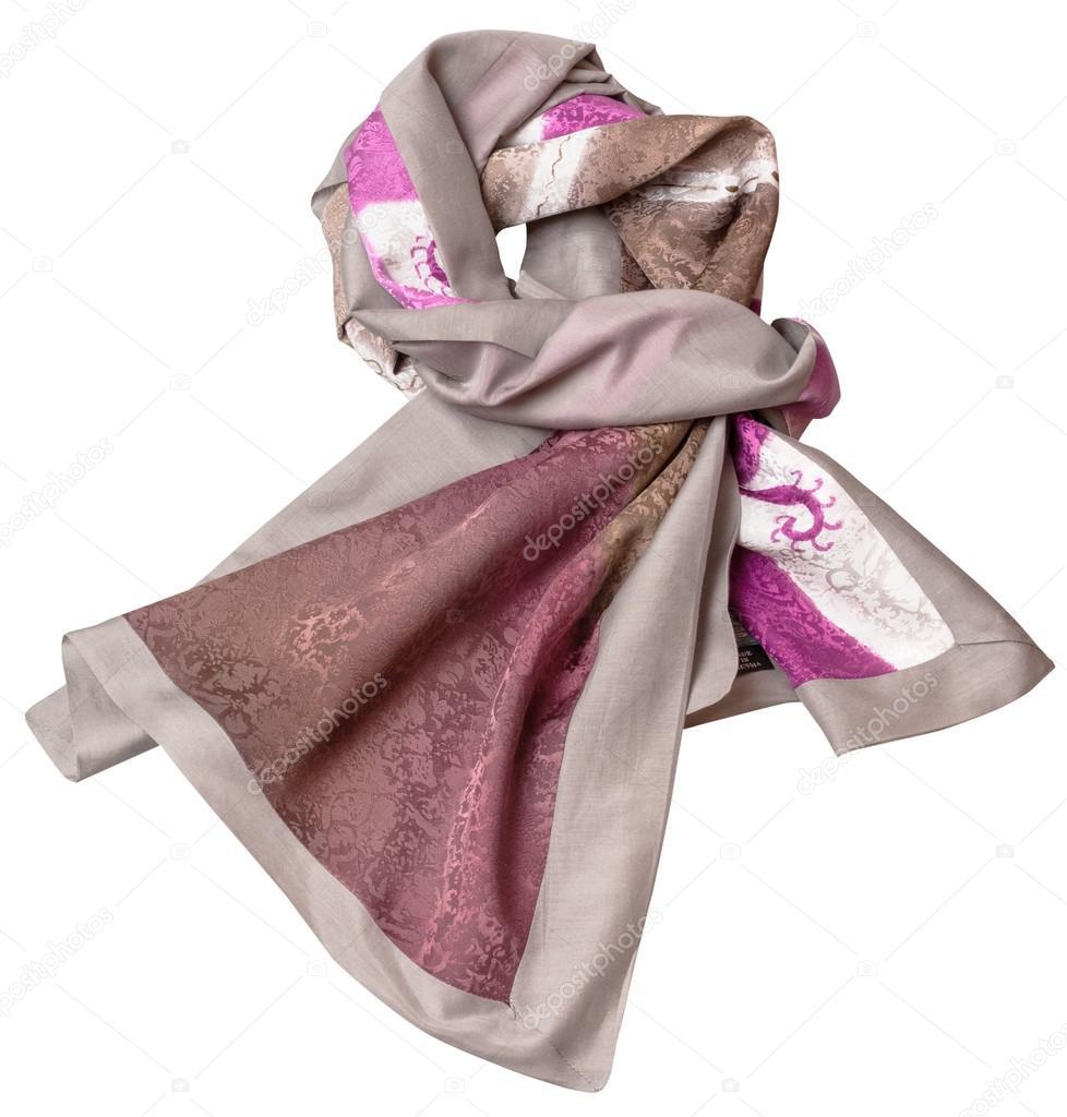 bufanda de seda de coser anudado con patrón de batik rosa — Fotos de ...