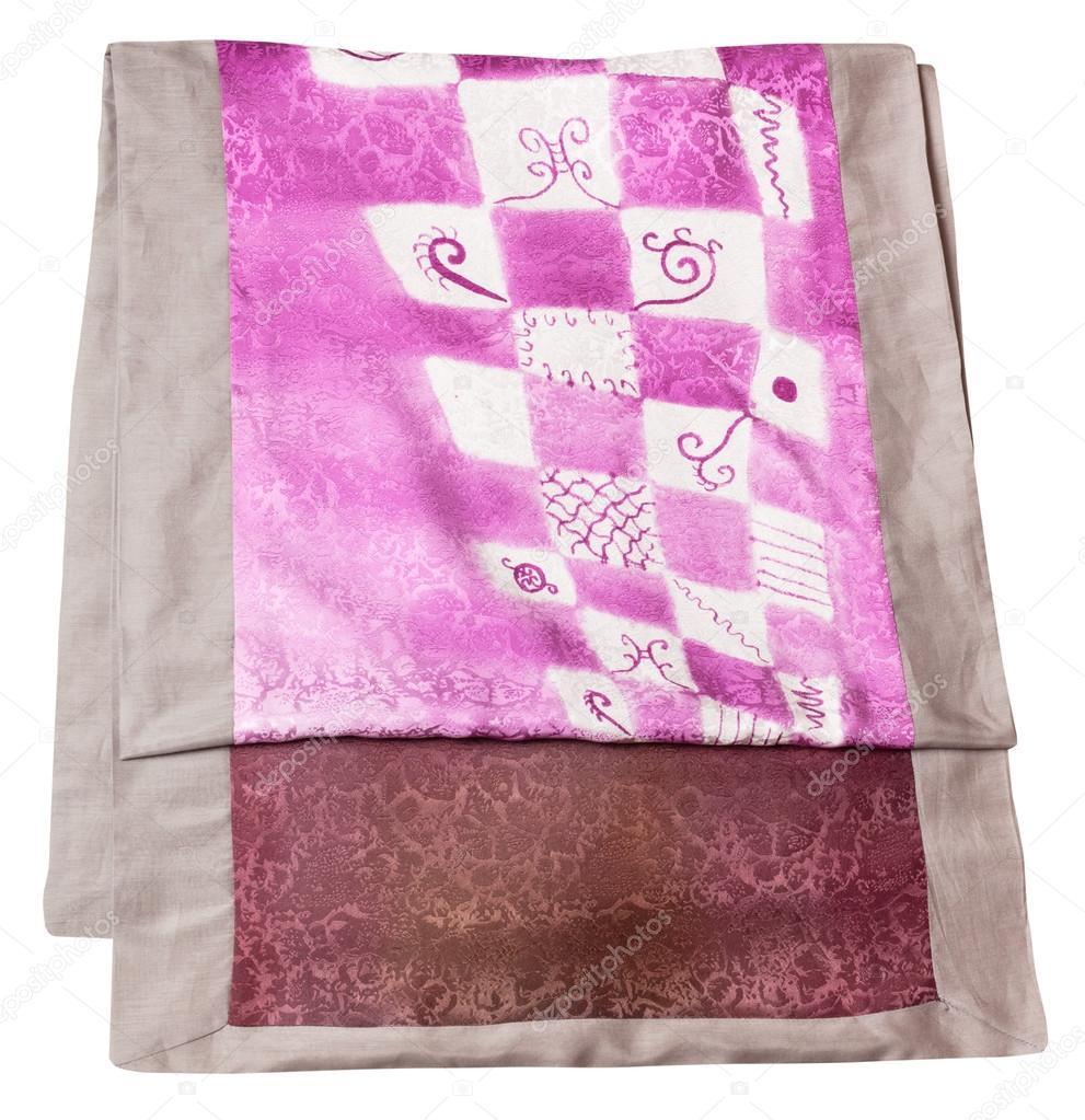 bufanda de seda de coser a mano con patrón de batik rosa — Fotos de ...