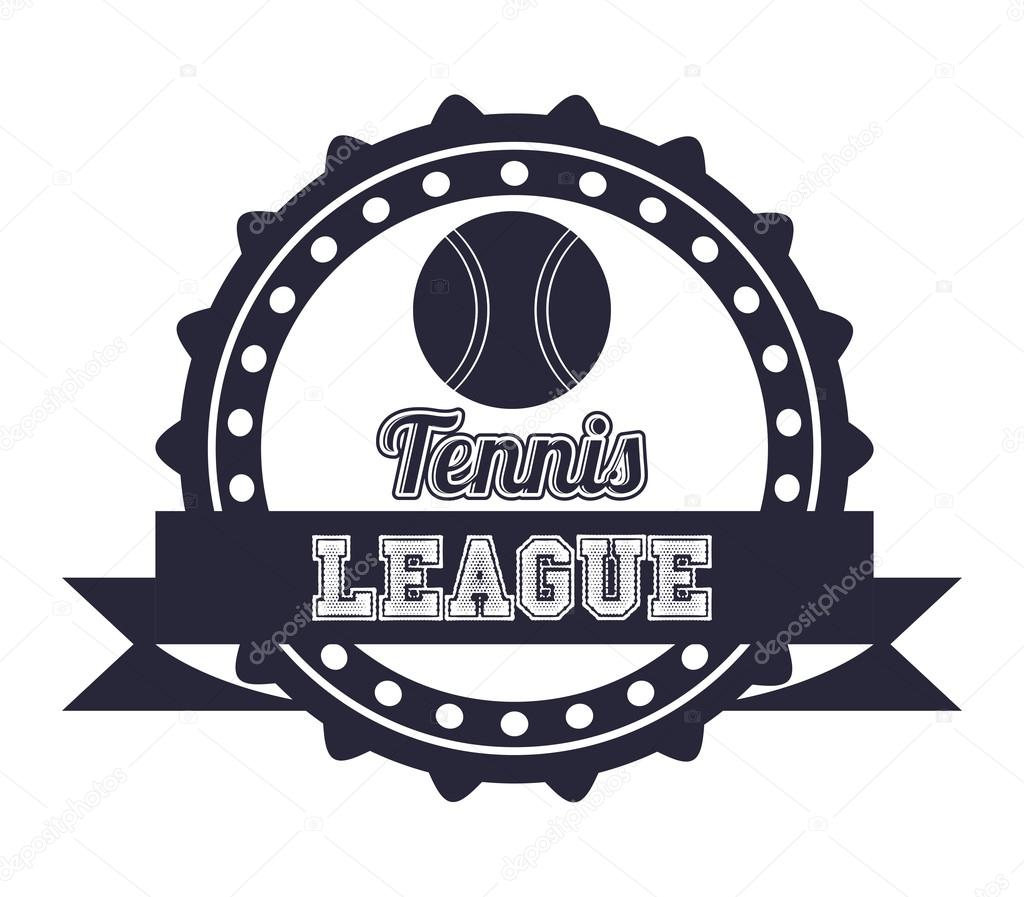 diseño de la Liga de tenis — Vector de stock © grgroupstock
