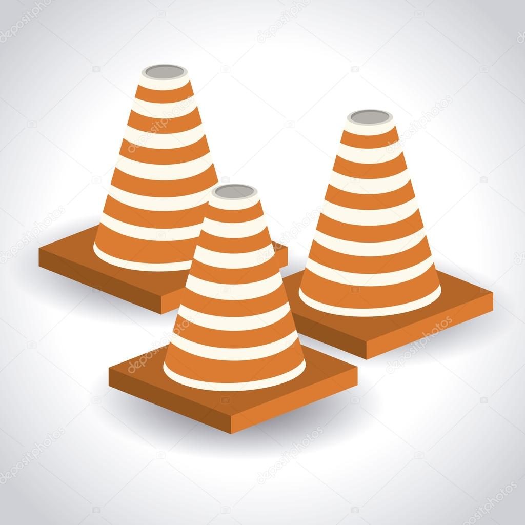 desenho isométrico de cones vetor de stock grgroupstock 107008050
