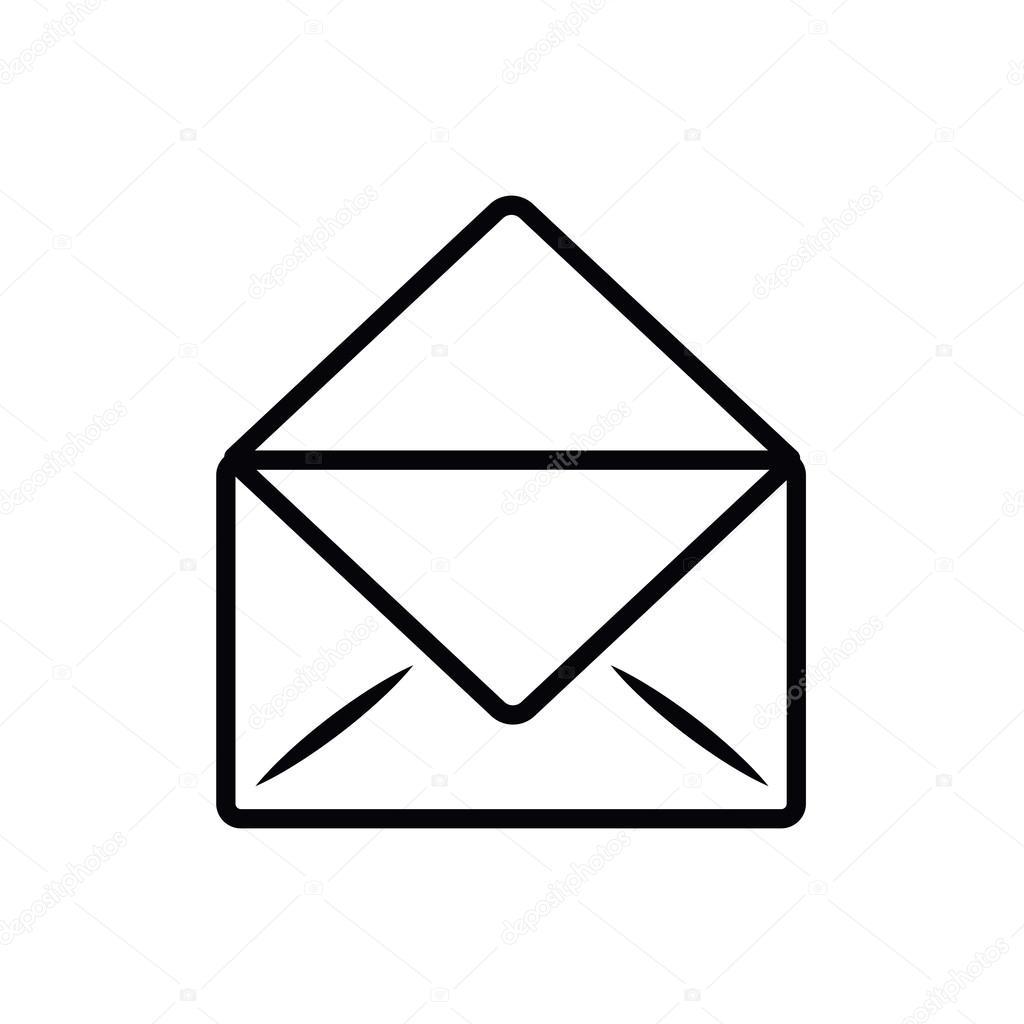 Dessin D Enveloppe lettre de l'enveloppe isolée dessin icône — image vectorielle
