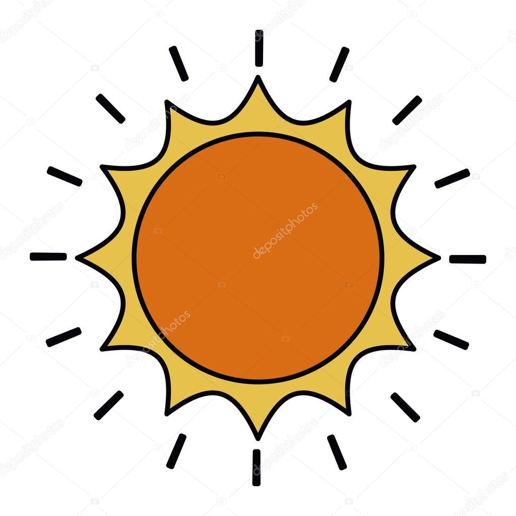 diseño del icono aislado dibujo sol archivo imágenes vectoriales
