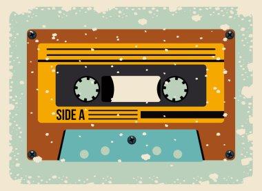 cassette tape isolated icon design