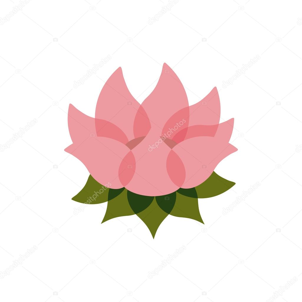 Pink lotus flower isolated icon design stock vector grgroupstock pink lotus flower isolated icon design stock vector izmirmasajfo