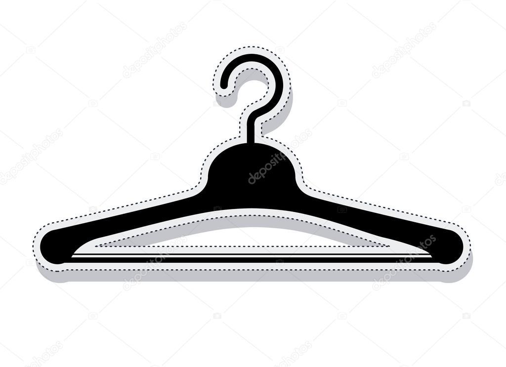 Gancho para colgar ropa vector de stock grgroupstock for Gancho colgador de ropa