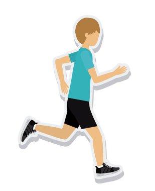 person figure athlete running sport icon