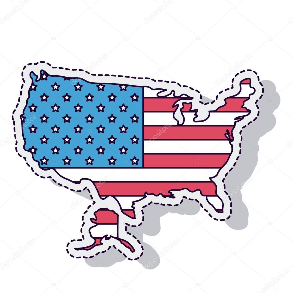 Usa Map Isolated Icon Vector Illustration Design Stock Vector