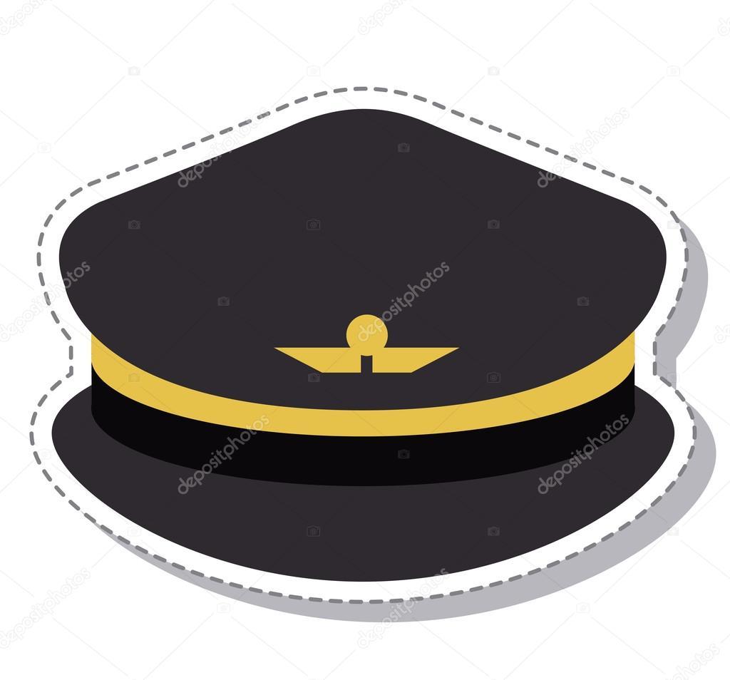 sombrero del piloto con diseño de símbolo de alas — Vector de stock ...