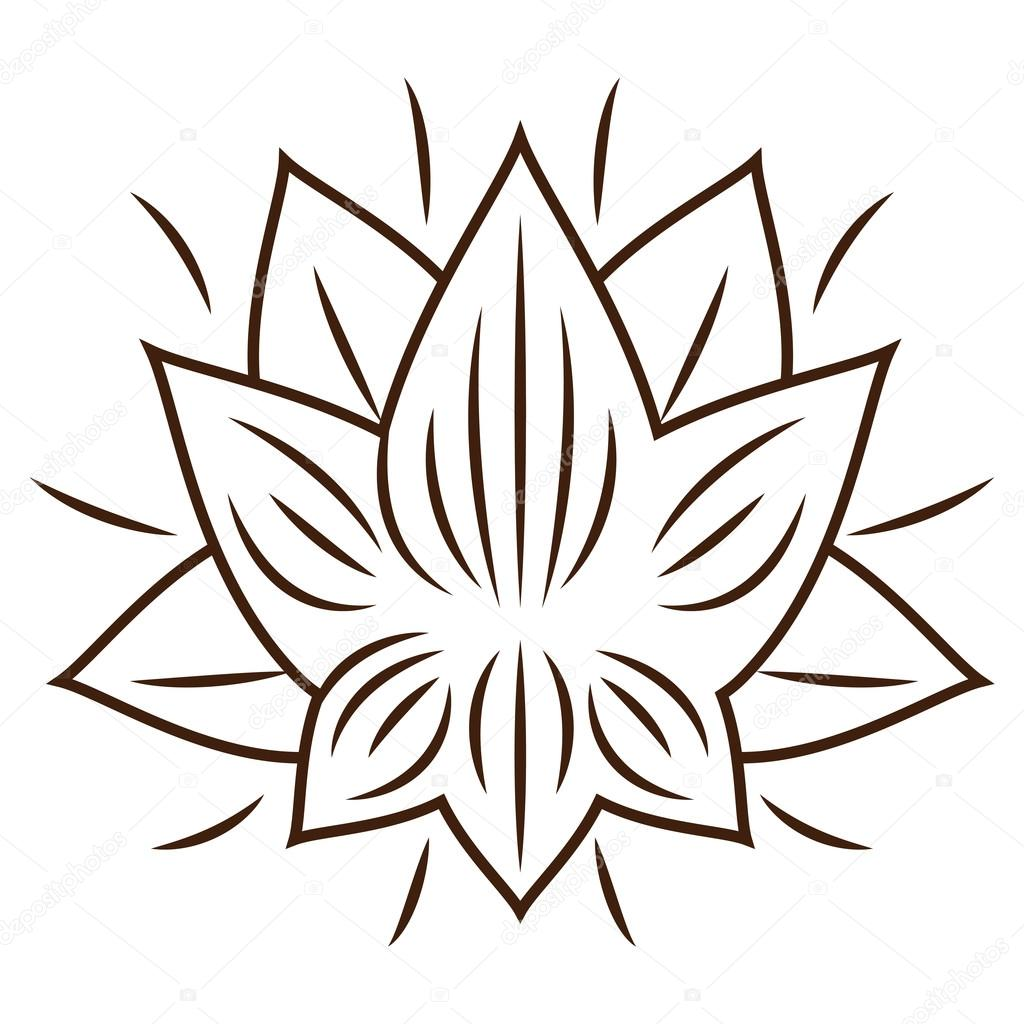 Isolated lotus flower design stock vector grgroupstock 123669296 isolated lotus flower design stock vector izmirmasajfo