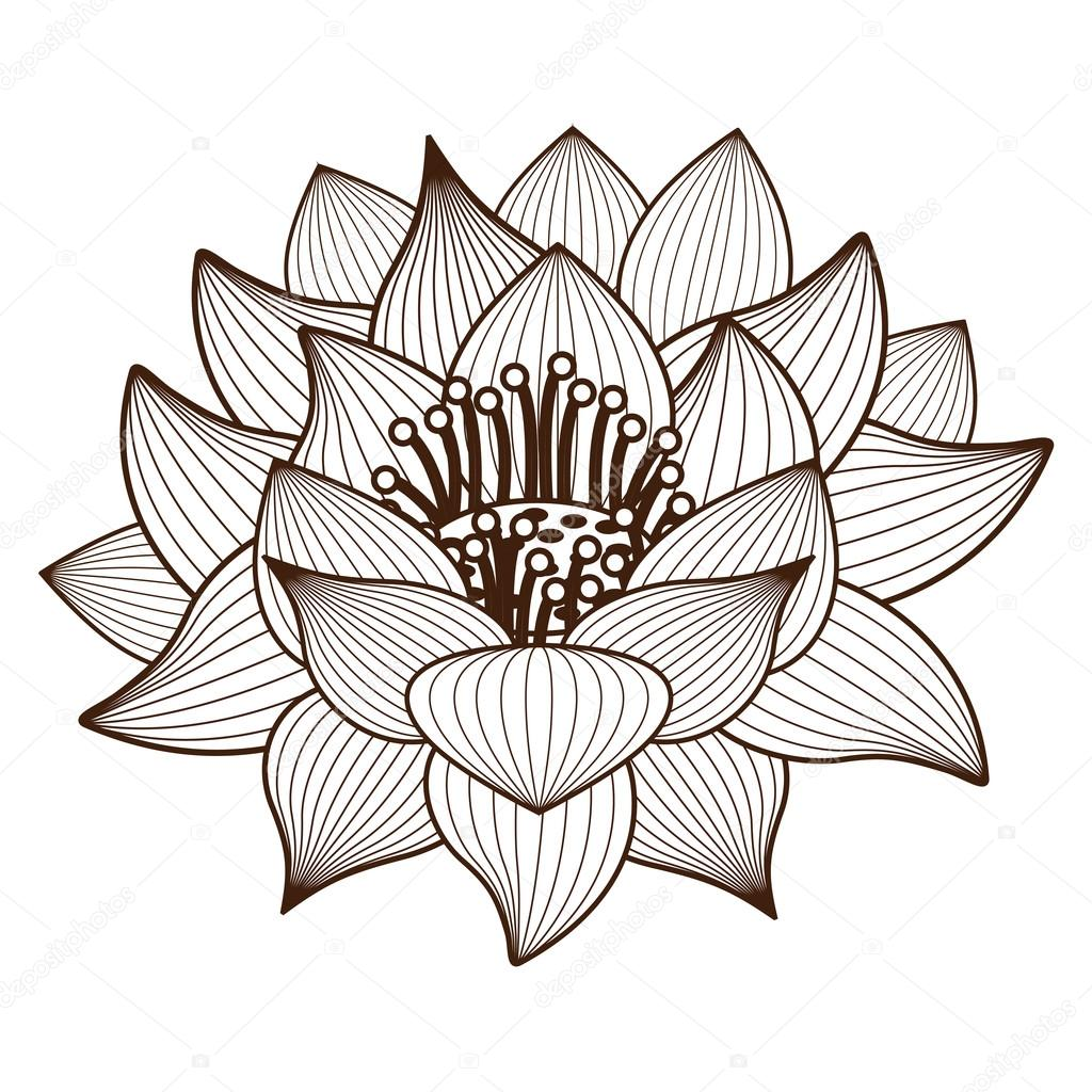 Isolated lotus flower design stock vector grgroupstock 123669450 isolated lotus flower design stock vector izmirmasajfo