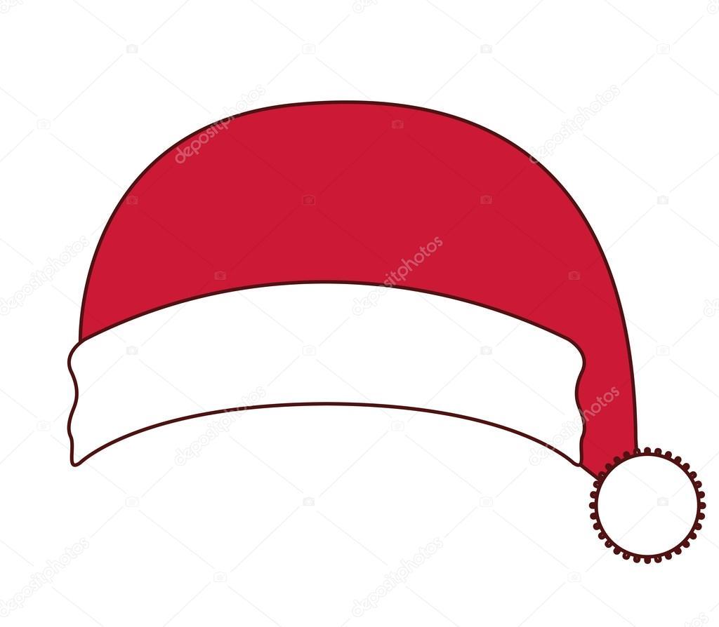 Cappello Di Babbo Natale Di Design Di Buon Natale Vettoriali Stock