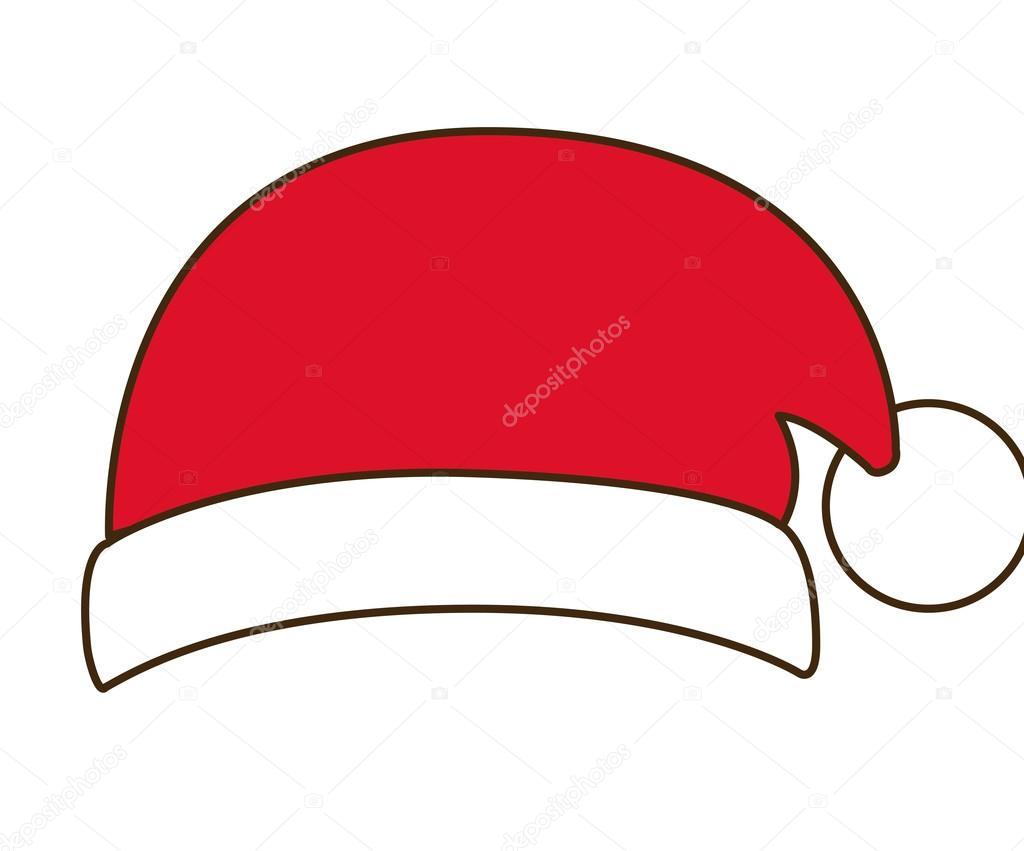 Icona del cappello di Babbo Natale. Tema di figura decorazione di stagione  di buon Natale. Isolate per il disegno. Illustrazione di vettore —  Vettoriali di ... 2c44cbd4e1a9
