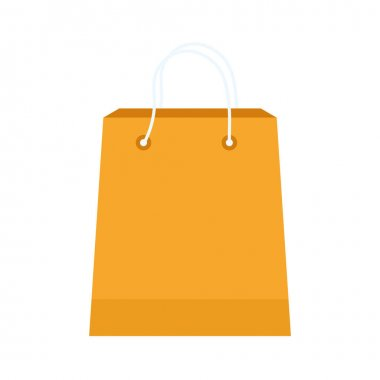 Shopping bag on a white background vector illustration design icon