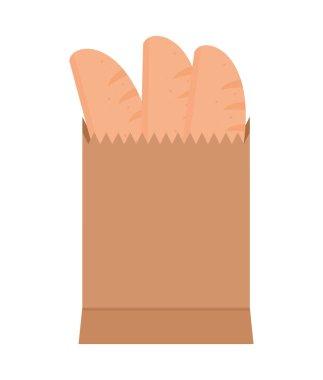 Bread in bag paper icon icon