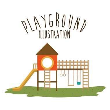 Playground design, vector illustration.