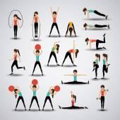 Fotografie Fitness design, vektorové ilustrace