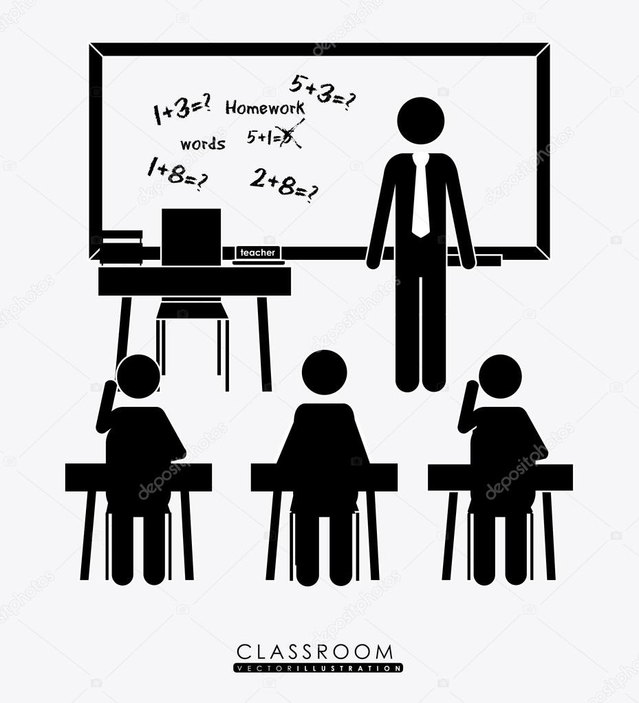 Class room, desing, vector illustration.