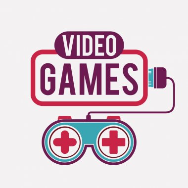 Video Games design over white background, vector illustration stock vector