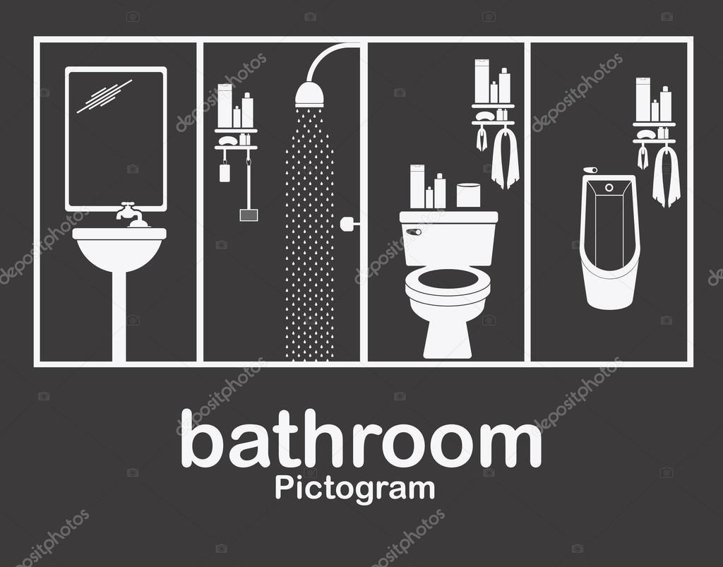 baño diseño — vector de stock #70860215 — depositphotos
