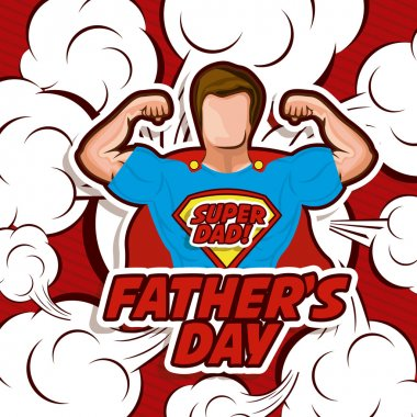 Fathers day design over red background, vector illustration clip art vector