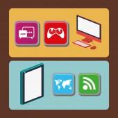 App store, vektorové ilustrace