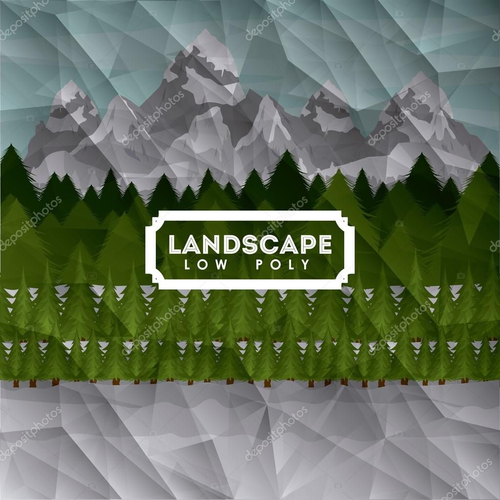 Landscape design , vector illustration