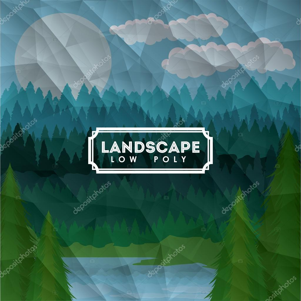 Landscape design , vector illustration