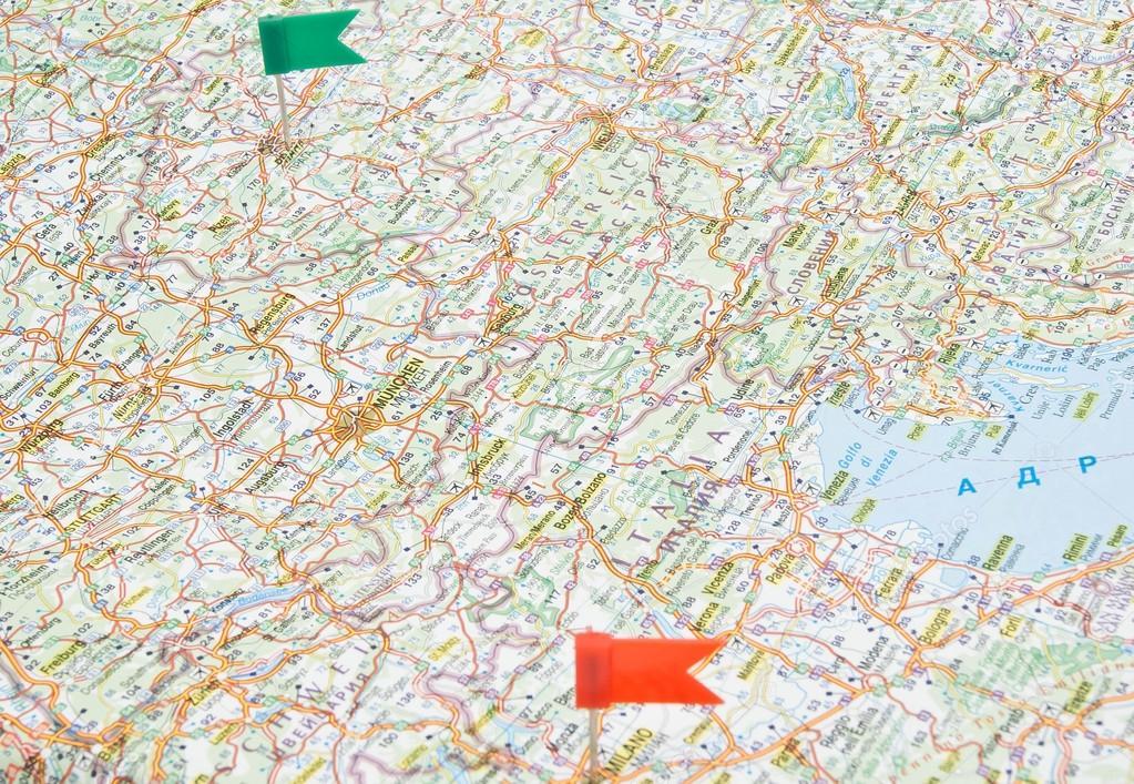 Cartina Stradale D Europa.Mappa Stradale Di Europa Con Le Note Foto Stock C Biggimot