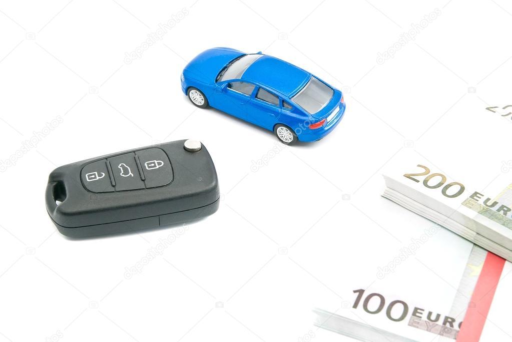 Car Keys Blue Car And Euro Notes Stock Photo C Biggimot 74901455