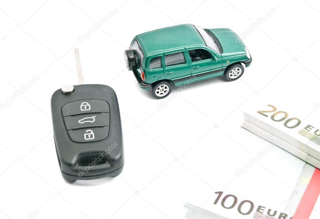 Car Keys Euro Banknotes And Green Car Stock Photo C Biggimot