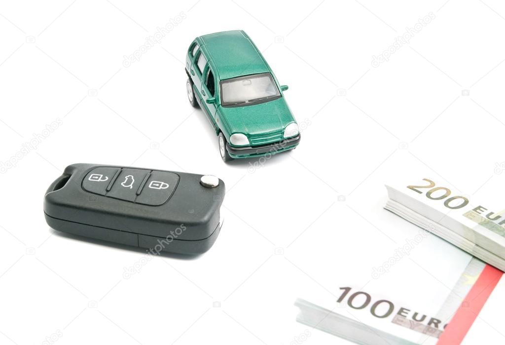 Green Car Euro Banknotes And Car Keys Stock Photo C Biggimot