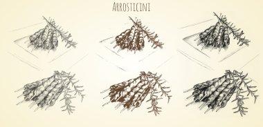 arrosticini hand drawn