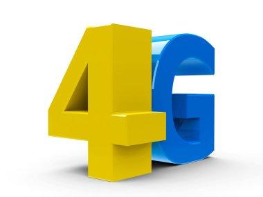 4G icon isometry