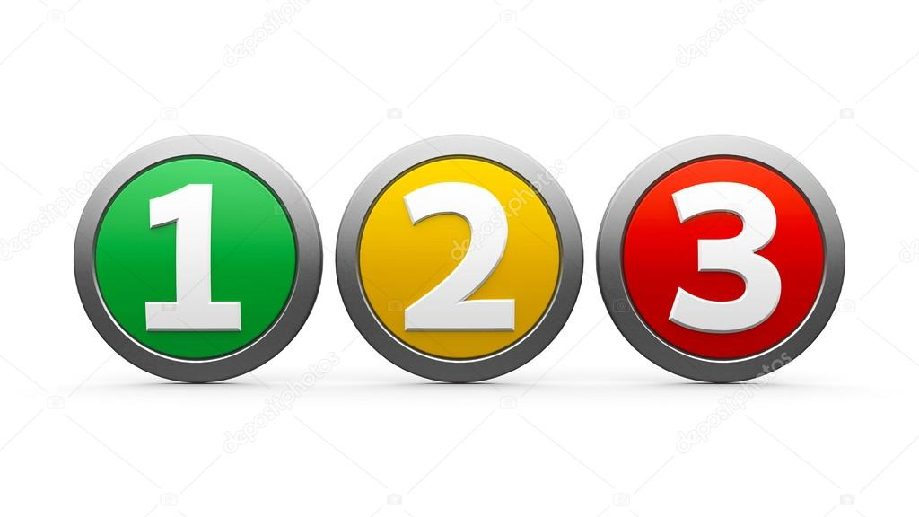 icons numbers 1 2 3 stock photo oakozhan 69984899