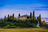 Toskánské krajiny, San Quirico di Orcia, Itálie