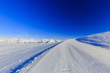 Ski run, 4 Valley Swiss Alps
