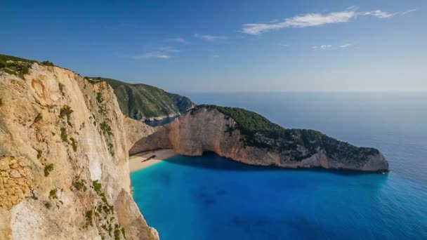 Shipwreck bay, Navagio - Zakynthos, Greece - aerial view