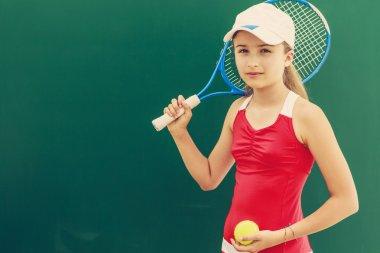 Tennis - beautiful young girl tennis player