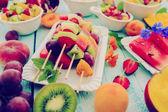Fotografie Obstspieße, Obstsalat - Sommerfest