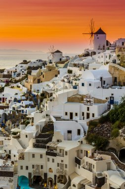 Oia at beautiful sunset