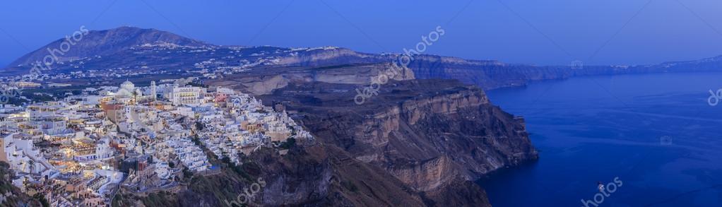 Santorini, Greece - Fira village, panorama