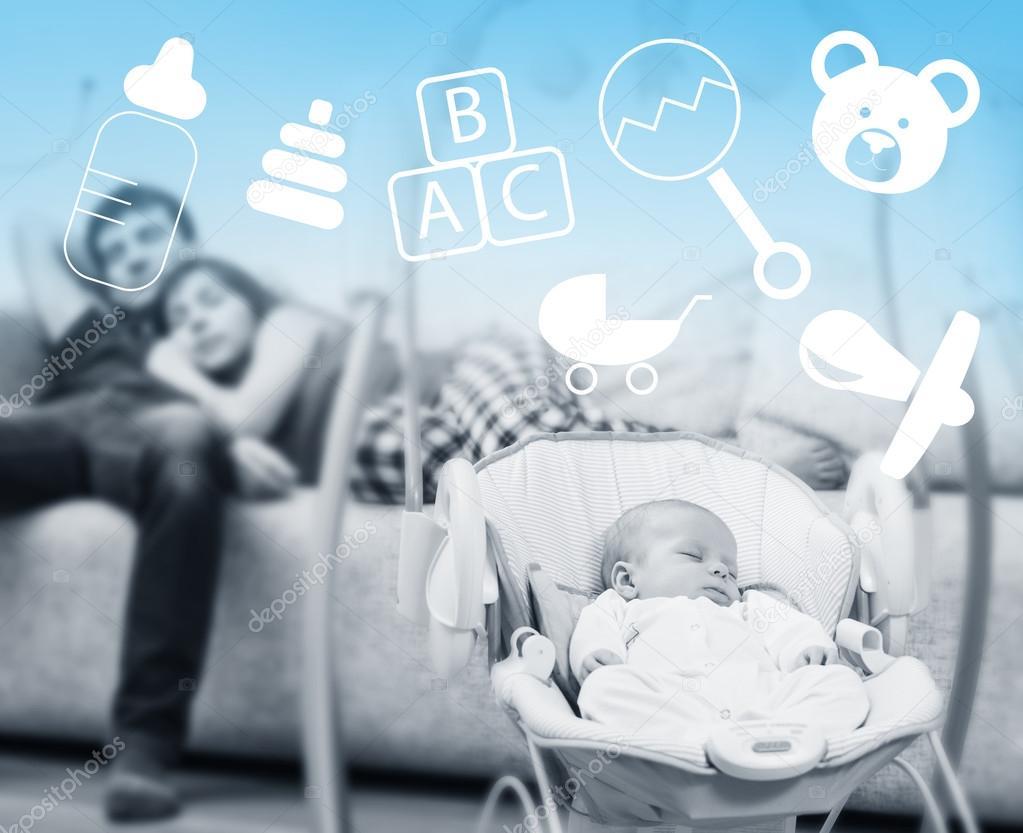 Baby Schommel Bed.Pasgeboren Slapen In Baby Schommel Stockfoto C Kotin 102030822