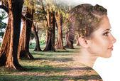 Dvojitá expozice ženy a přírody